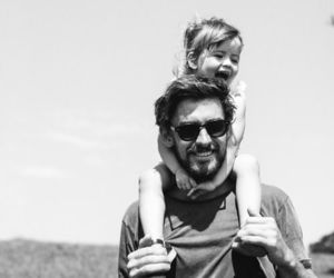 baby, cute, and dad image
