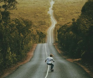 skate, road, and photography image