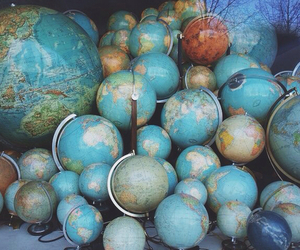 cities, continents, and globe image