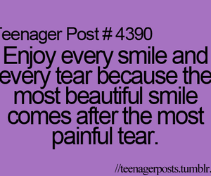 quotes, tear, and smile image