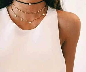 choker, gold, and jewelry image