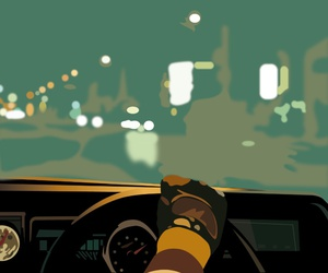 car, drive, and movie poster image
