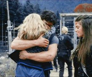 bellamy, hug, and clarke image