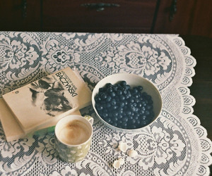 coffee, poetry, and vintage image