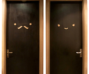 doors and moustache image
