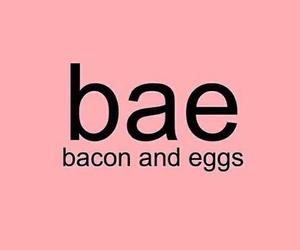 bae, food, and bacon image