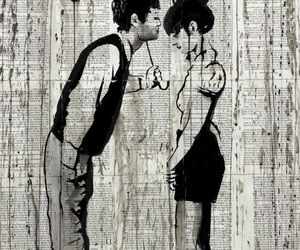 couple, couple in love, and art of the day image