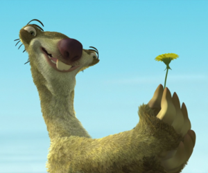 sid, ice age, and flower image