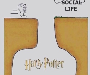 social life, harry potter, and funny image