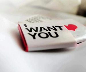 love, heart, and i want you image
