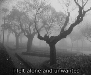 alone, sad, and unwanted image