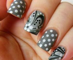 nails, grey, and art image