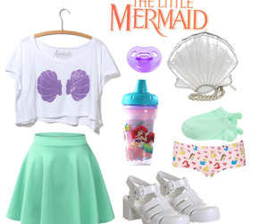 ariel, the little mermaid, and disneybound image