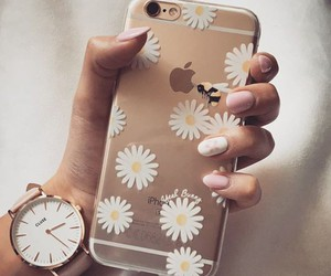 case, daisy, and floral image