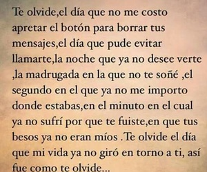 frases, olvido, and amor image
