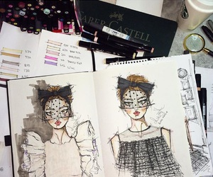 art, fashion, and notebook image