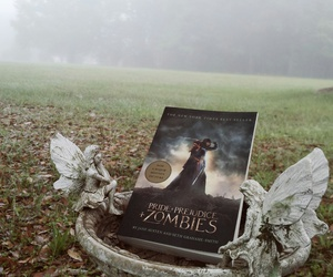 angel, book, and fog image