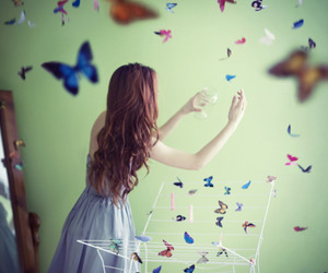 butterfly and girls image