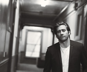 jake gyllenhaal, black and white, and Hot image