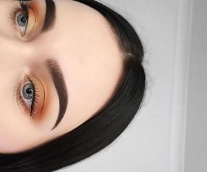 makeup, beauty, and brown image