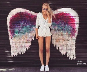 art, photography, and wings image