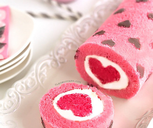 cake, heart, and sweet image