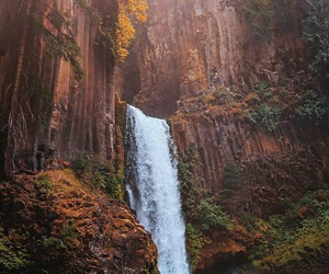 nature, landscape, and waterfall image