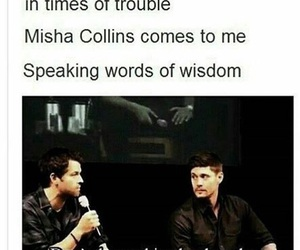 supernatural, misha collins, and funny image