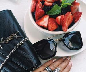 fashion, bag, and strawberry image