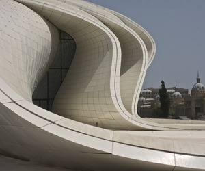 architecture, zaha hadid, and heydar aliyev center image