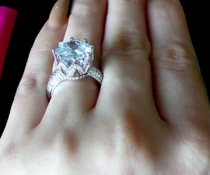 rings, engagement rings, and cute rings image