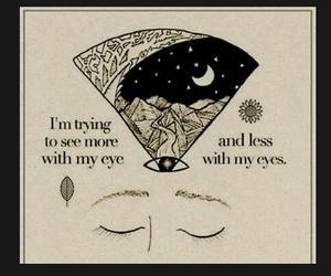 aware, eye, and peace image