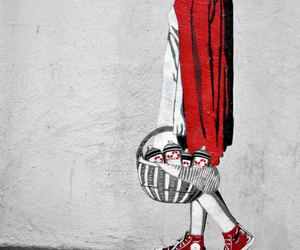 red, art, and street art image