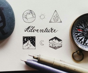 doodles, minimalistic, and adventure image