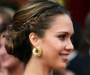 braid, earing, and hair image