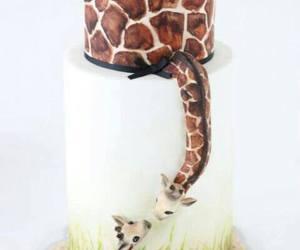 cake, giraffe, and animal image