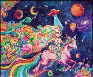 acid, mashroom, and watercolor image