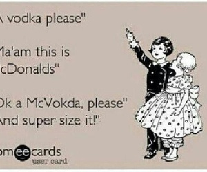 vodka, funny, and McDonalds image