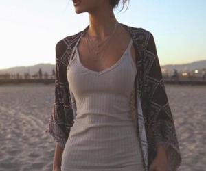 fashion, dress, and beach image
