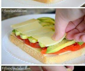 food, avocado, and sandwich image