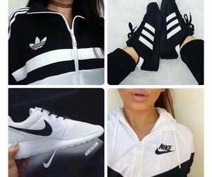 nike, adidas, and black image