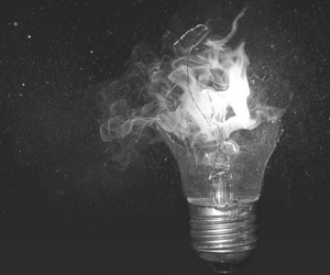 light, fire, and photography image