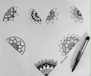 mandala, art, and doodle image