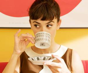 penelope cruz, tea, and vintage image