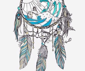 drawing, dreamcatcher, and tattoo image