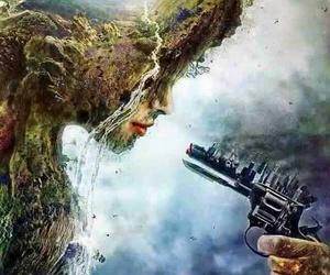 danger, destruction, and reality image