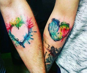couple, hearts, and love image