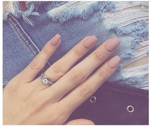 makeup, nails, and Nude image