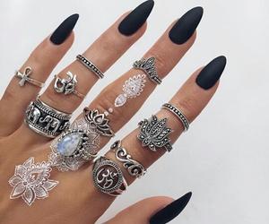 black, henna, and nails image
