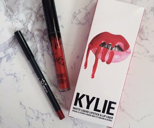 makeup, kylie jenner, and red image